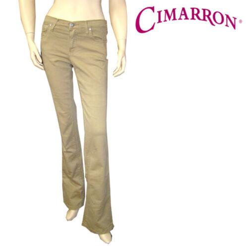 CIMARRON pantalon bootcut beige et kaki stretch femme