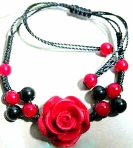 necklace ring Red Lacquer Rose bracelet earrings choose your favourites.