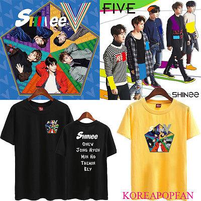Shinee KPOP T-SHIRT TSHIRT TEE JONG HYUN MINHO KEY MINHO ONEW FIVE 5TH V