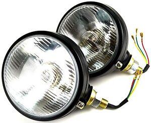 2x scheinwerfer mit standlicht e zulassung traktor lampe. Black Bedroom Furniture Sets. Home Design Ideas
