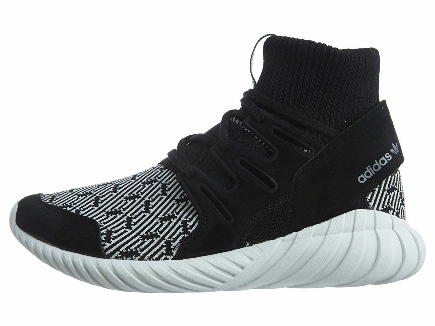 NEW ADIDAS TUBULAR DOOM PK CORE BLACK VINTAGE WHITE PRIMEKNIT S80096 Mens SZ 10
