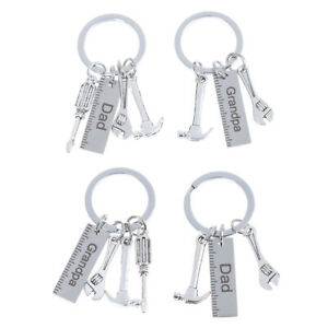 Metal-Key-Rings-dad-grandpa-Keychains-Father-Day-gift-keychaH-TI