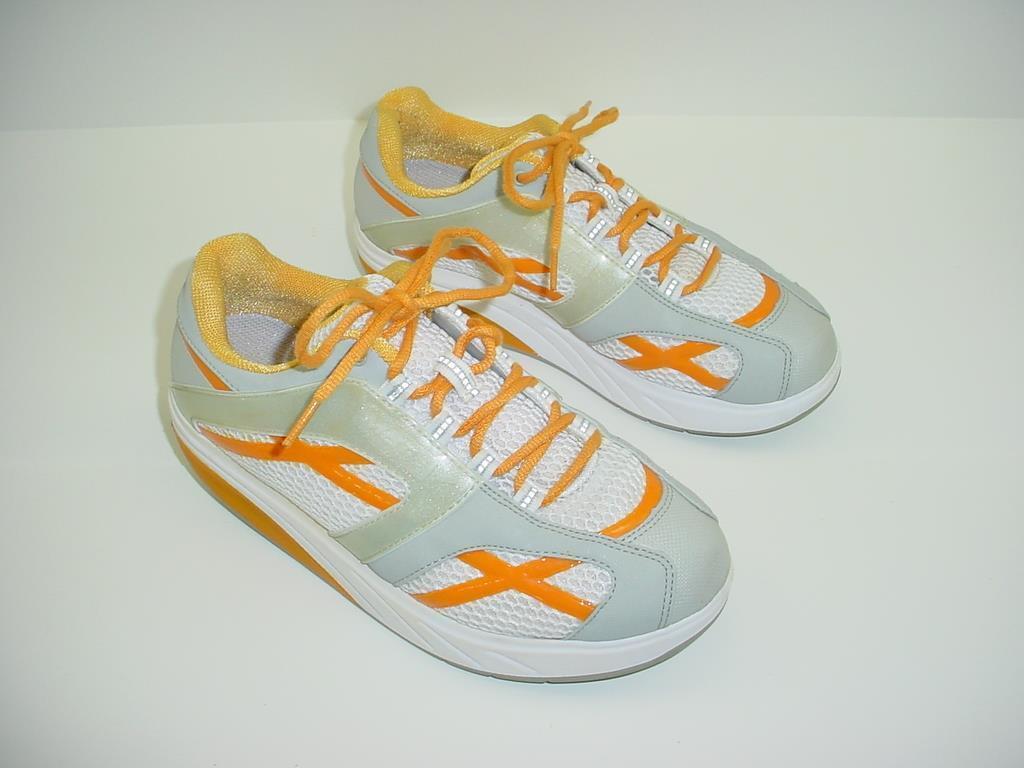 Excelente MBT M caminar Naranja Con Cordones Caminar Tonificación Fitness Zapatos EE. UU. para Mujer