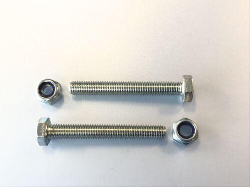 5 Stück Schraube DIN 933 M8x60 10.9 verzinkt Mutter M8 Kl.10