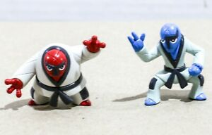 "Pokemon TOMY Gen 5 - 1 to 2"" Figure / Toy Lot (2) - Sawk + Throh - MINT!"