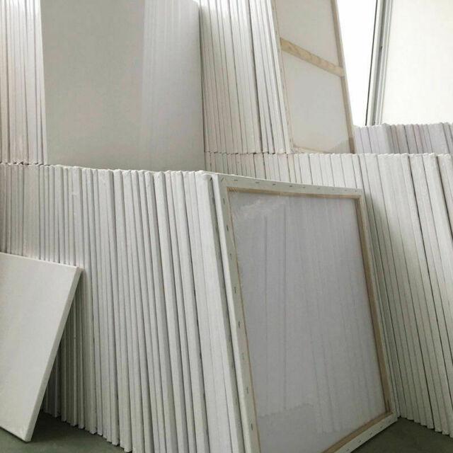 4 LEINW/ÄNDE AUF KEILRAHMEN 60 x 80 cm von XTRADEFACTORY Leinwand K/ünstler Malereibedarf