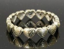 9Carat White Gold Full Heart Eternity Wedding Band & Diamonds (Size O) 4mm Width