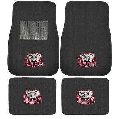 New 4pcs NCAA Alabama Crimson Tide Car Truck Front Rear Carpet Floor Mats Set