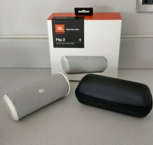 JBL Wireless Bluetooth Flip 2 Grey Speakers With Hard Case And Box Working