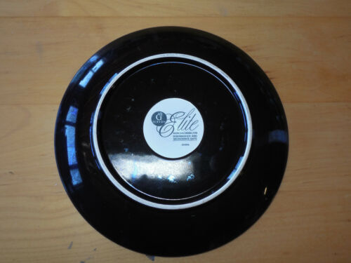 """Gibson Elite MIDNIGHT PALM Dinner Plate 11/"""" Brown /& Cream 1 ea   4 available"""