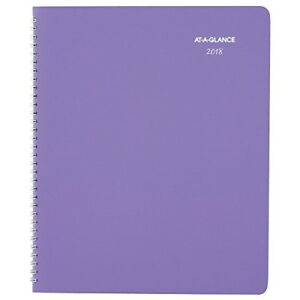 at a glance day monthly planner 8 1 2 x 11 purple 2017 2018 938p900