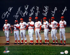 REDS BIG RED MACHINE AUTOGRAPHED 16X20 PHOTO 8 SIGS BENCH ROSE PSA/DNA 35424