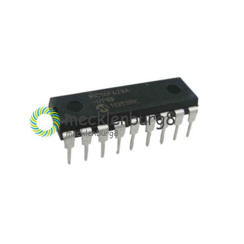 IC Microchip DIP-18 PIC16F628A-I//P 16F628A DIP18 Microcontroller