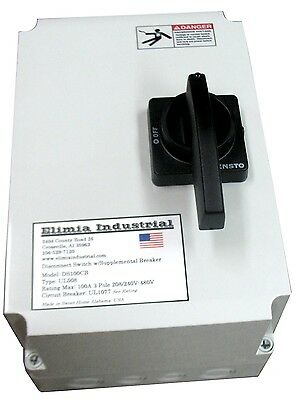 Elimia 80A Fused Disconnect Switch NEMA 4X w/Circuit Breaker 208-230 480V 600V