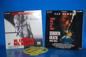 Zwei-Laserdisc-Sonder-Van-Damme-Al-Bremsbelagsatz-VA-Del-Gefahr-Tod
