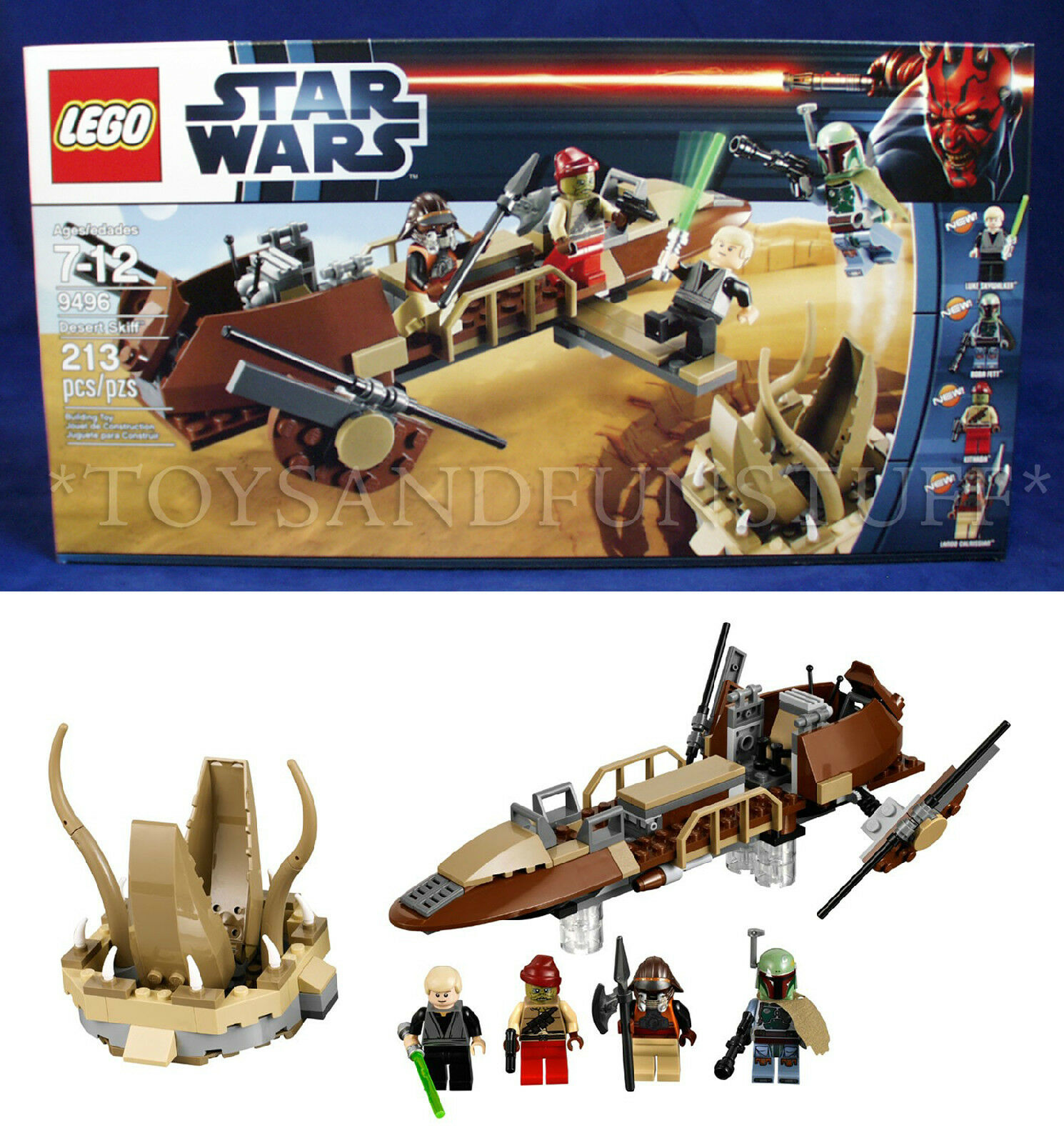 New DESERT SKIFF - STAR WARS Lego 9496 Building Set 4 Minifigures SARLACC PIT