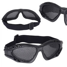 Tactical Durable Outdoor Eye Protective Safety Metal Mesh Glasses Goggle