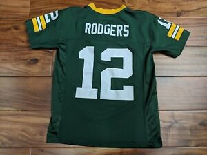 367986356eb Details about Green Bay Packers AARON RODGERS  12 Home NFL Jersey Shirt  Youth Small 8-10
