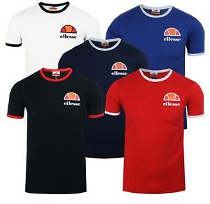 406a4dd6174b ellesse Classic Algila Crew Neck Ringer T-Shirt Retro Sports Top ...