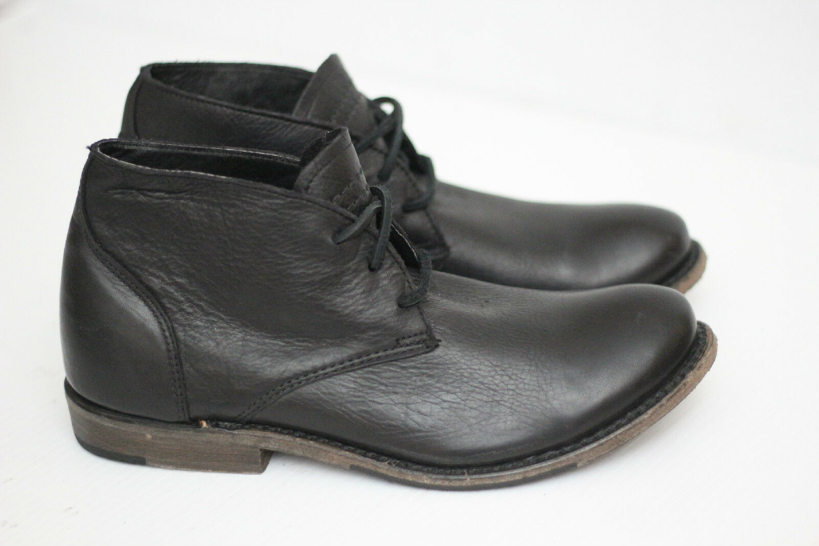 Nuevo Walk-over Vintage 'Vaughn' botín Chukka-Cuero Negro-Tamaño 8 M (Y14)