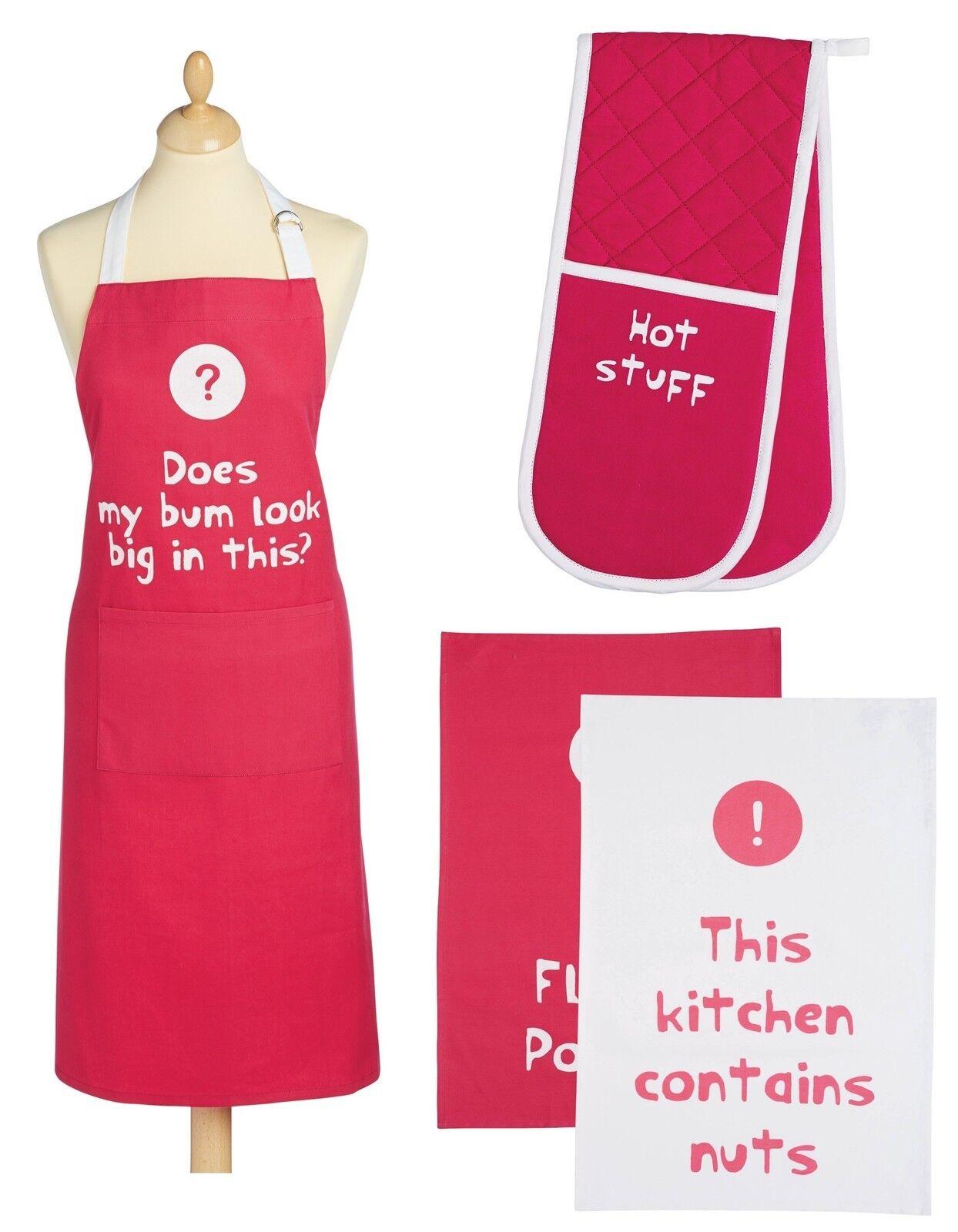 Küchen Handwerk Zitate Rosa Baumwolle Küchenschürze, Doppelte Ofenhandschuhe Tee  | Die Königin Der Qualität