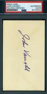 John-Vaught-OLE-MISS-PSA-DNA-Coa-Autograph-Hand-Signed-3x5-Index-Card