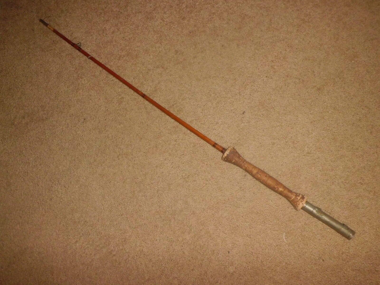 Vintage 38-1 2  Butt Section w  Beaty Reel Seat Split Bamboo Fly Rod- USA