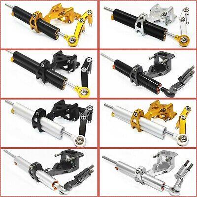 CNC Steering Stabilizer Damper Bracket Gray For 2008-2012 KAWASAKI Ninja 250R
