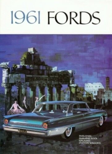 FORD 1961 Fairlane /& Galaxie Sales Brochure 61
