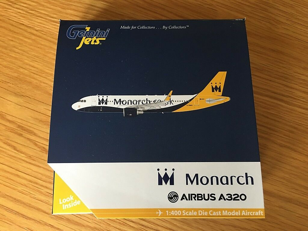 Monarch Airlines UK UK UK Airbus A320 Zwillinge Jets Modell Maßstab 1 400 Gjmon1430    New Product 2019  cff962