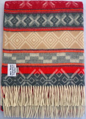 Geo-ethnic Throw is All Natural 100/% Baby Alpaca Throw Afghan Blanket