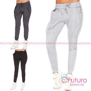 La imagen se está cargando Mujer-Deporte-Pantalones -con-Puno-Bolsillos-Grandes-Joggers- bf559211925c