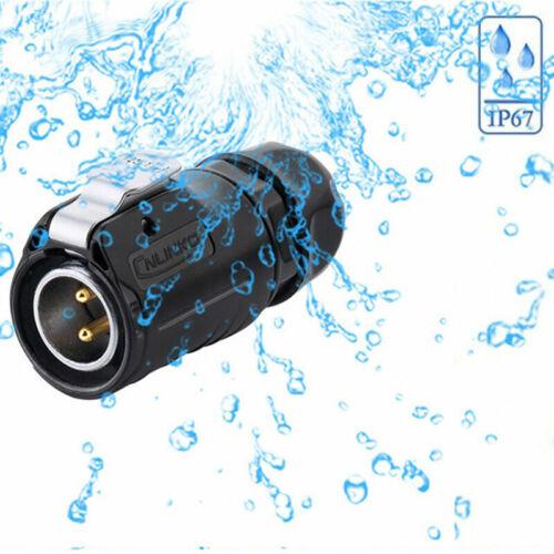 500V 12V 24V IP67 Rundstecker Stecker mit Deckel wasserdicht QZ Buchse