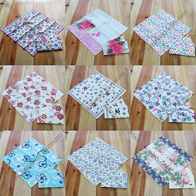pack of 10 printed paper napkins 3 ply wedding party reception birthday dining