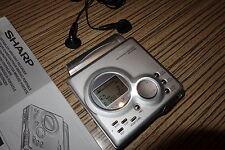 Sharp Minidisc MT88  MD     (33) MT 88   Silber  + Anleitung  Long-Play