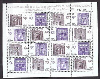Architektur Zielsetzung Spanien 1997 Postfrisch Kulturerbe Der Sephardischen Juden Minr 3361-3364 StraßEnpreis Europa