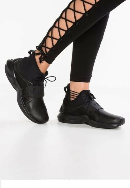 Rihanna Black Hi Trainer Sneaker Size