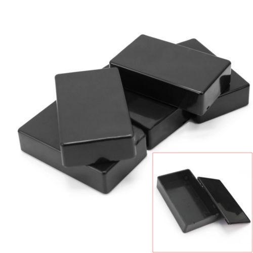 5Pcs Electronic Project Instrument Case Plastic Enclosure Box 100x60x25mm Black