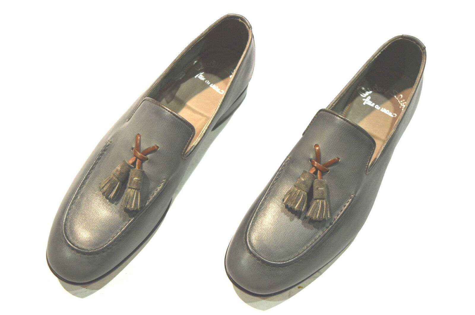 NEW SANTONI  Loafers Shoes Size Eu 42 Uk 8 Us 9  Made in Italy OT 6