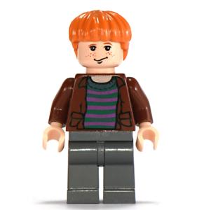 Lego Ron Weasley 4758 10132 Brown Open Shirt Harry Potter Minifigure