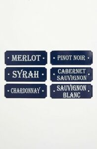 French-Enamel-Door-Signs-French-Metal-Sommelier-Plates-Wines
