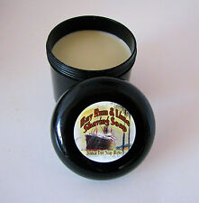 Bay Rum and Lime, Handmade Shaving Soap, 4 oz Black Tub,