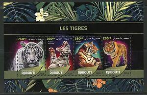 DJIBOUTI-2016-Tigres-feuille-neuf-sans-charniere