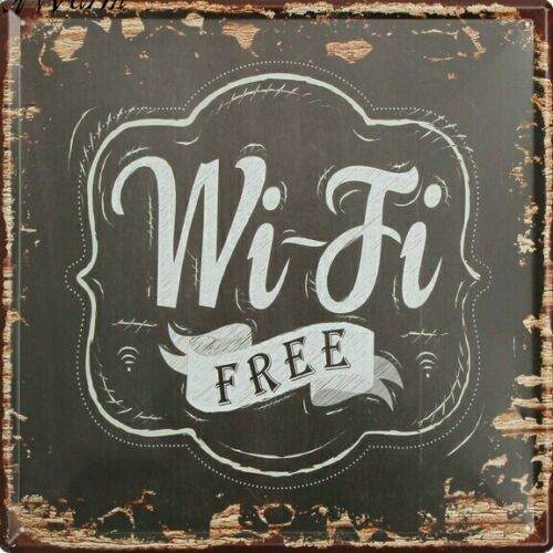 Quality Wifi Free Vintage Metal Tin Sign Bar Pub Shop Wall Tavern Poster Decor
