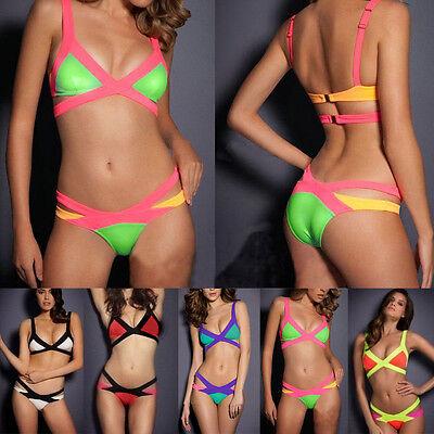 Sexy Women Bandage Bikini Set Push up Padded Bra Swimsuit Bathing Suit Swimwear