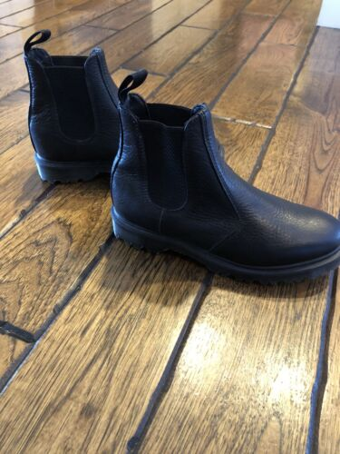 Women's Black Leather Dr. Martens Ankle Boot -size