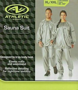 """Athletic Adult Sauna Suit XL/XXL Fits Waist Sizes 42"""" - 50"""" $17.87 FREE SHIPPING"""