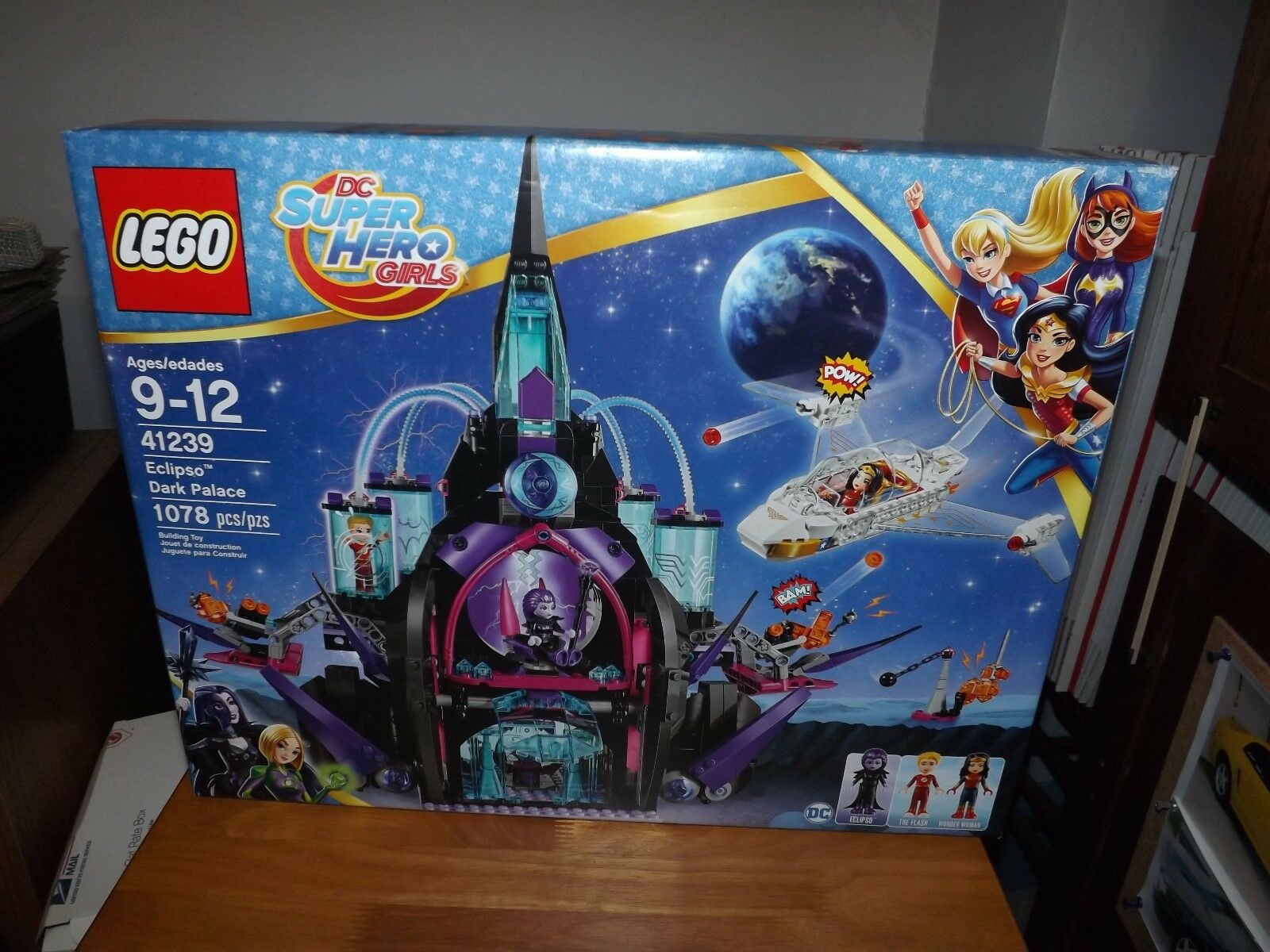 LEGO, DC SUPER HERO GIRLS, ECLIPSO DARK PALACE, KIT  41239, 1078 PIECES NIB 2017