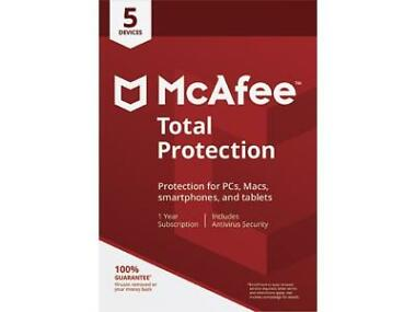 McAfee Total Protection 2018 for 5 Device / 1 Year
