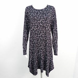 Michael Kors Kleid Gr L Schwarz Weiss Gemustert Damen Stretch Langarm Dress Robe Ebay